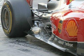 World © Octane Photographic Ltd. Wednesday 26th November 2014. Abu Dhabi Testing - Yas Marina Circuit. Scuderia Ferrari F14T rear suspension. Digital Ref: 1175CB1D9557