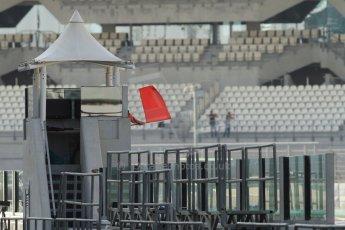World © Octane Photographic Ltd. Wednesday 26th November 2014. Abu Dhabi Testing - Yas Marina Circuit. Red flag. Digital Ref: 1175CB7D8862