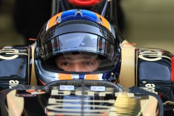 World © Octane Photographic Ltd. Wednesday 26th November 2014. Abu Dhabi Testing - Yas Marina Circuit. Lotus F1 Team E22 – Alex Lynn. Digital Ref: 1175CB7D8878