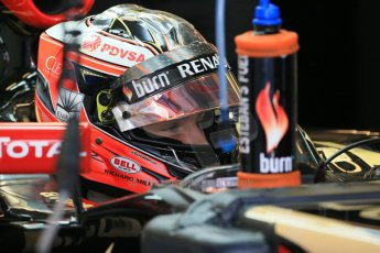 World © Octane Photographic Ltd. Wednesday 26th  November 2014. Abu Dhabi Testing - Yas Marina Circuit. Lotus F1 Team E22 – Esteban Ocon. Digital Ref: 1175LB1D8386