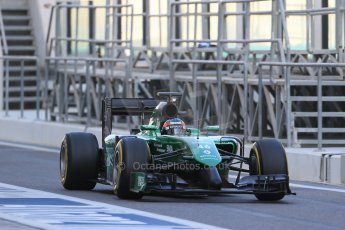 World © Octane Photographic Ltd. Wednesday 26th November 2014. Abu Dhabi Testing - Yas Marina Circuit. Caterham F1 Team CT05 – William Stevens. Digital Ref: 1175LB1D8499
