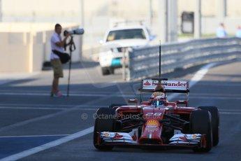 World © Octane Photographic Ltd. Wednesday 26th November 2014. Abu Dhabi Testing - Yas Marina Circuit. Scuderia Ferrari F14T – Raffaele Marciello. Digital Ref: 1175LB1D8608