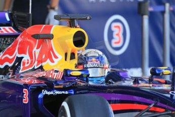 World © Octane Photographic Ltd. Wednesday 26th  November 2014. Abu Dhabi Testing - Yas Marina Circuit. Infiniti Red Bull Racing RB10 – Daniel Ricciardo. Digital Ref: 1175LB1D8666