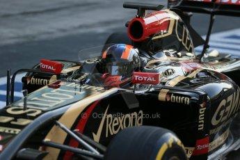 World © Octane Photographic Ltd. Wednesday 26th Wednesday 26th November 2014. Abu Dhabi Testing - Yas Marina Circuit. Lotus F1 Team E22 – Alex Lynn. Digital Ref: 1175LB1D9149
