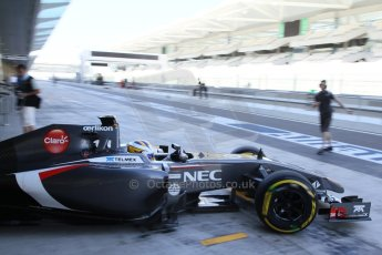World © Octane Photographic Ltd. Wednesday 26th November 2014. Abu Dhabi Testing - Yas Marina Circuit. Sauber C33 – Marcus Ericsson. Digital Ref : 1175LB7L9919