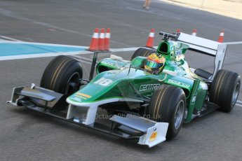 World © Octane Photographic Ltd. Thursday 27th November 2014. GP2 Testing - Yas Marina, United Arab Emirates. Rio Haryanto – Status Grand Prix. Digital Ref :
