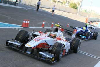 World © Octane Photographic Ltd. Thursday 27th November 2014. GP2 Testing - Yas Marina, United Arab Emirates. Stoffel Vandoorne - ART Grand Prix. Digital Ref :