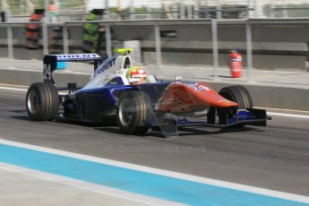 World © Octane Photographic Ltd. Thursday 27th November 2014. GP3 Testing - Yas Marina, United Arab Emirates. Alex Palou - Trident. Digital Ref :