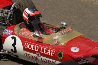 World © Octane Photographic Ltd. Sunday 22nd June 2014. Red Bull Ring, Spielberg – Austria - Formula 1 Legends. Gerhard Berger - Lotus 49. Digital Ref: 1003LB1D1678