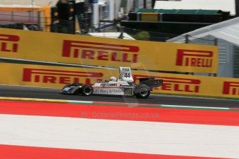 World © Octane Photographic Ltd. Sunday 22nd June 2014. Red Bull Ring, Spielberg – Austria, Formula 1 Legends. Dieter Quester. - Surtees TS16. Digital Ref: 1003LB1D4660