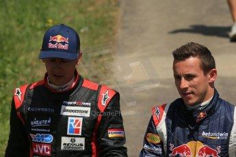 World © Octane Photographic Ltd. Sunday 22nd June 2014. Red Bull Ring, Spielberg – Austria, Formula 1 Legends. Patrick Friesacher and Christian Klien. Digital Ref: 1003LB1D4701