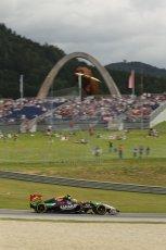 World © Octane Photographic Ltd. Saturday 21st June 2014. Red Bull Ring, Spielberg - Austria - Formula 1 Practice 3. Sahara Force India VJM07 – Sergio Perez. Digital Ref: 0995LB1D1391
