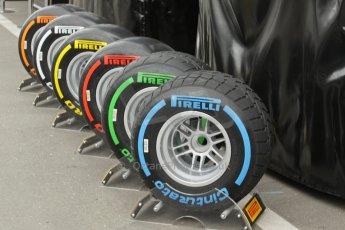 World © Octane Photographic Ltd. Saturday 21st June 2014. Red Bull Ring, Spielberg - Austria - Formula 1 Practice 3. Pirelli tyre range. Digital Ref: 0995LB1D1426