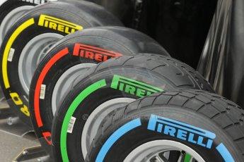 World © Octane Photographic Ltd. Saturday 21st June 2014. Red Bull Ring, Spielberg - Austria - Formula 1 Practice 3. Pirelli tyre range. Digital Ref: 0995LB1D1430