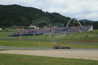 World © Octane Photographic Ltd. Saturday 21st June 2014. Red Bull Ring, Spielberg - Austria - Formula 1 Practice 3. Lotus F1 Team E22 – Pastor Maldonado. Digital Ref: 0995LB1DX1964
