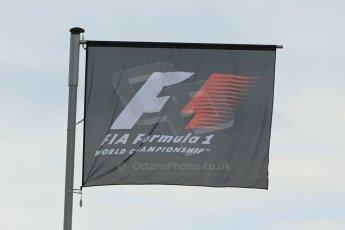 World © Octane Photographic Ltd. Saturday 21st June 2014. Red Bull Ring, Spielberg - Austria - Formula 1 Practice 3. F1 flag. Digital Ref: 0995LB1D1424