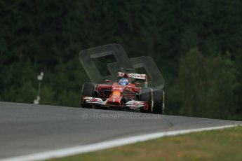 World © Octane Photographic Ltd. Friday 20th June 2014. Red Bull Ring, Spielberg - Austria - Formula 1 Practice 1. Scuderia Ferrari F14T - Fernando Alonso. Digital Ref: 0991LB1D0192