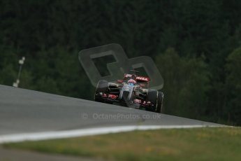 World © Octane Photographic Ltd. Friday 20th June 2014. Red Bull Ring, Spielberg - Austria - Formula 1 Practice 1.  Lotus F1 Team E22 - Romain Grosjean. Digital Ref: 0991LB1D0263