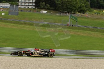 World © Octane Photographic Ltd. Friday 20th June 2014. Red Bull Ring, Spielberg - Austria - Formula 1 Practice 1.  Lotus F1 Team E22 - Romain Grosjean. Digital Ref: 0991LB1D0863
