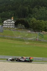 rld © Octane Photographic Ltd. Friday 20th June 2014. Red Bull Ring, Spielberg - Austria - Formula 1 Practice 1.  Sahara Force India VJM07 – Sergio Perez. Digital Ref: 0991LB1D0921