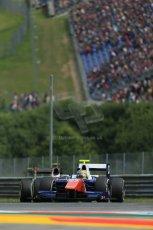 World © Octane Photographic Ltd. Saturday 21st June 2014. GP2 Race 1 – Red Bull Ring, Spielberg - Austria. Johnny Cecotto - Trident and Stoffel Vandoorne - ART Grand Prix. Digital Ref : 0997LB1D2885