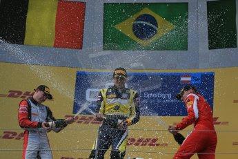 World © Octane Photographic Ltd. Saturday 21st June 2014. GP2 Race 1 – Red Bull Ring, Spielberg - Austria. Felipe Nasr - Carlin, Stoffel Vandoorne - ART Grand Prix and Raffaele Marciello - Racing Engineering. Digital Ref : 0997LB1D3647