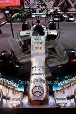 World © Octane Photographic Ltd. Autosport International Show NEC Birmingham, Thursday 9th January 2014. Mercedes F1 Car. Digital ref: 0878cj7d0024