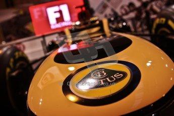 World © Octane Photographic Ltd. Autosport International Show NEC Birmingham, Thursday 9th January 2014. Lotus F1 nose. Digital ref: 0878cj7d0032