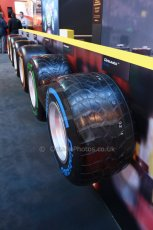 World © Octane Photographic Ltd. Autosport International Show NEC Birmingham, Thursday 9th January 2014. Pirelli tires. Digital ref: 0878lb1d8777