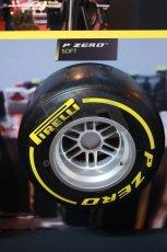 World © Octane Photographic Ltd. Autosport International Show NEC Birmingham, Thursday 9th January 2014. Pirelli tires. Digital ref: 0878lb1d8782