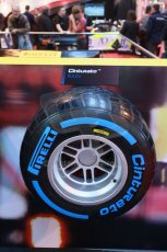 World © Octane Photographic Ltd. Autosport International Show NEC Birmingham, Thursday 9th January 2014. Pirelli tires. Digital ref: 0878lb1d8793