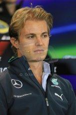 World © Octane Photographic Ltd. Thursday 21st August 2014. Belgian GP, Spa-Francorchamps Formula 1 FIA Press Conference. Mercedes AMG Petronas - Nico Rosberg. Digital Ref: 1078LB1D6161