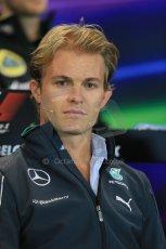 World © Octane Photographic Ltd. Thursday 21st August 2014. Belgian GP, Spa-Francorchamps Formula 1 FIA Press Conference. Mercedes AMG Petronas - Nico Rosberg. Digital Ref: 1078LB1D6174