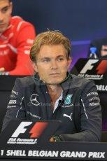 World © Octane Photographic Ltd. Thursday 21st August 2014. Belgian GP, Spa-Francorchamps Formula 1 FIA Press Conference. Mercedes AMG Petronas - Nico Rosberg. Digital Ref: 1078LB1D6337