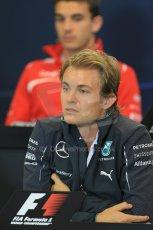 World © Octane Photographic Ltd. Thursday 21st August 2014. Belgian GP, Spa-Francorchamps Formula 1 FIA Press Conference. Mercedes AMG Petronas - Nico Rosberg. Digital Ref: 1078LB1D6374