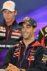 World © Octane Photographic Ltd. Thursday 21st August 2014. Belgian GP, Spa-Francorchamps - Formula 1 FIA Press Conference. Infiniti Red Bull Racing - Daniel Ricciardo. Digital Ref: 1078LB1D6416