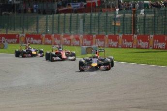 World © Octane Photographic Ltd. Sunday 24th August 2014, Belgian GP, Spa-Francorchamps. Formula 1 Race. Infiniti Red Bull Racing RB10 - Sebastian Vettel. Digital Ref: 1090LB1D1761