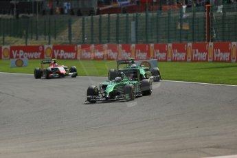 World © Octane Photographic Ltd. Sunday 24th August 2014, Belgian GP, Spa-Francorchamps. - Formula 1 Race. Caterham F1 Team CT05 – Andre Lotterer. Digital Ref: 1090LB1D1787