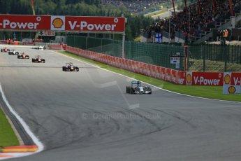 World © Octane Photographic Ltd. Sunday 24th August 2014, Belgian GP, Spa-Francorchamps. - Formula 1 Race. Mercedes AMG Petronas F1 W05 Hybrid – Lewis Hamilton. Digital Ref: 1090LB1D1881