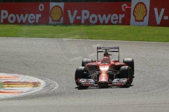 World © Octane Photographic Ltd. Sunday 24th August 2014, Belgian GP, Spa-Francorchamps. - Formula 1 Race. Scuderia Ferrari F14T – Kimi Raikkonen. Digital Ref: 1090LB1D1937