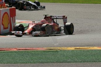 World © Octane Photographic Ltd. Sunday 24th August 2014, Belgian GP, Spa-Francorchamps. - Formula 1 Race. Scuderia Ferrari F14T – Kimi Raikkonen. Digital Ref: 1090LB1D2095