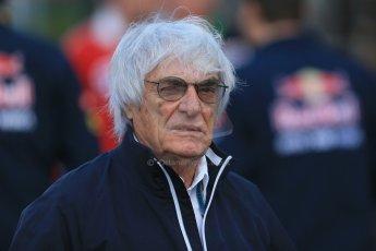 World © Octane Photographic Ltd. Sunday 24th August 2014, Belgian GP, Spa-Francorchamps. Formula 1 Paddock. Bernie Ecclestone. Digital Ref: 1088LB1D1360a