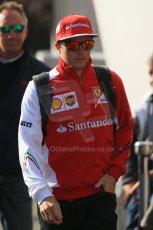 World © Octane Photographic Ltd. Sunday 24th August 2014, Belgian GP, Spa-Francorchamps. - Formula 1 Paddock. Scuderia Ferrari – Kimi Raikkonen. Digital Ref: 1088LB1D1434
