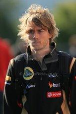 World © Octane Photographic Ltd. Sunday 24th August 2014, Belgian GP, Spa-Francorchamps. - Formula 1 Paddock. Lotus F1 Team Reserve Driver - Charles Pic. Digital Ref: 1088LB1D1462