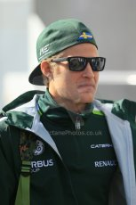 World © Octane Photographic Ltd. Sunday 24th August 2014, Belgian GP, Spa-Francorchamps. - Formula 1 Paddock. Caterham F1 Team – Marcus Ericsson. Digital Ref: 1088LB1D1509