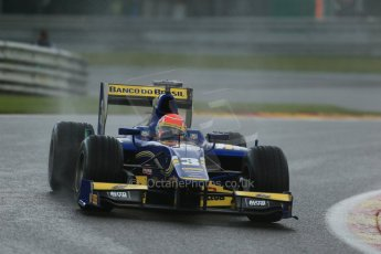 World © Octane Photographic Ltd. Friday Saturday 23rd August 2014. GP2 Race 1 – Belgian GP, Spa-Francorchamps. Felipe Nasr - Carlin. Digital Ref : 1086LB1D0587