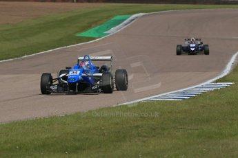 World © Octane Photographic Ltd. Cooper Tyres British Formula 3 (F3). Rockingham - Qualifying, Sunday 4th May 2014. Dallara F308 Mercedes HWA – Camren Kaminsky - Double R Racing. Digital Ref : 0920lb1d1700