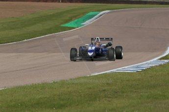World © Octane Photographic Ltd. Cooper Tyres British Formula 3 (F3). Rockingham - Qualifying, Sunday 4th May 2014. Dallara F310 Volkswagen - Peter Li Zhi Cong - Carlin. Digital Ref : 0920lb1d1706