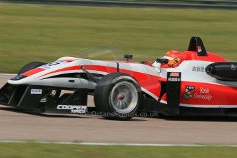 "World © Octane Photographic Ltd. Cooper Tyres British Formula 3 (F3). Rockingham - Qualifying, Sunday 4th May 2014. Dallara F312 Mercedes HWA - Hong Wei ""Martin"" Cao - Fortec Motorsports. Digital Ref : 0920lb1d1851"
