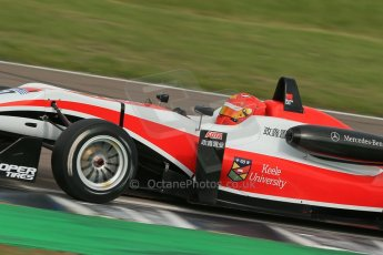"World © Octane Photographic Ltd. Cooper Tyres British Formula 3 (F3). Rockingham - Race, Sunday 4th May 2014. Dallara F312 Mercedes HWA - Hong Wei ""Martin"" Cao – Fortec Motorsports. Digital Ref : 0921lb1d2374"